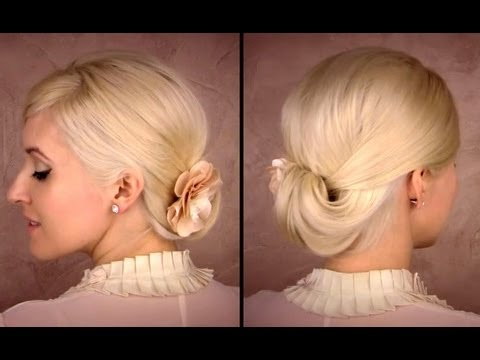 Elegant Updo For Medium Long Hair Tutorial For Work Office Shoulder