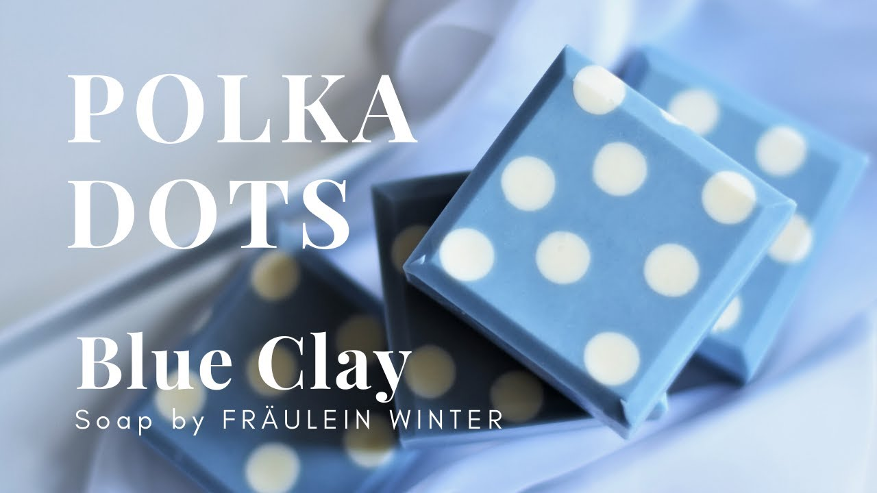 Polka Dot Soap with Blue Clay - Cold Process Soap - Fraeulein Winter
