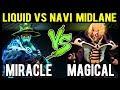 MIRACLE- vs MAGICAL in Solo Ranked - Liquid vs Navi New Midlaner