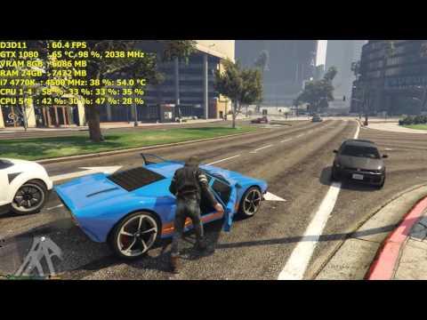 Grand Theft Auto 5 / 3840x2160 / i7 4770K GTX 1080  FE