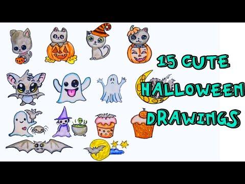 15 cute halloween drawings | DIY stickers