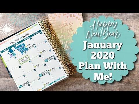 PLAN WITH ME! | January 2020 | Erin Condren Life Planner