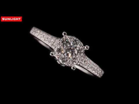 Бриллианты Якутии | Золотое кольцо SUNLIGHT | Само совершенство.