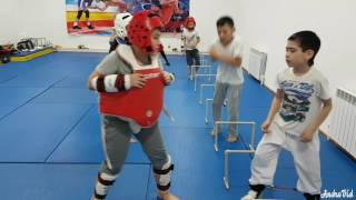 Тренировки  в группе НП-3 таеквондо  (WTF)