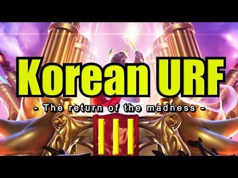 High Elo Korean URF Madness 3!