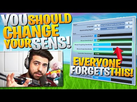 Why Your Sensitivity is HOLDING YOU BACK! (Change it!) - Fortnite Battle Royale