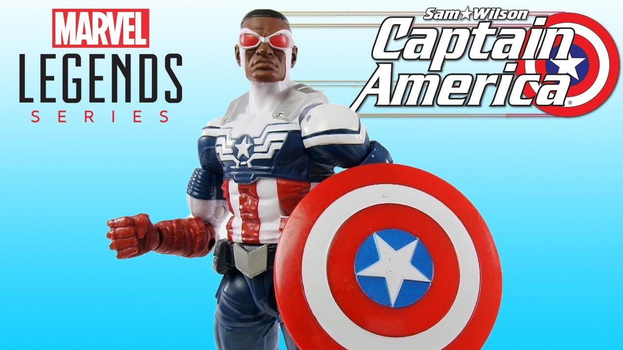 3e564a74abb Review Sam Wilson Capitão América - Captain America Marvel Legends Avengers  3-pack Toys R Us boneco