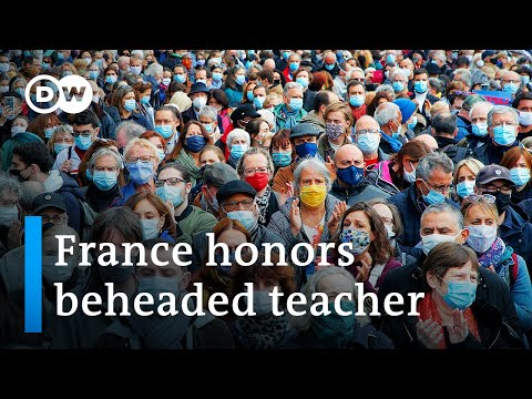 Thousands in France pay tribute to beheaded teacher | DW News