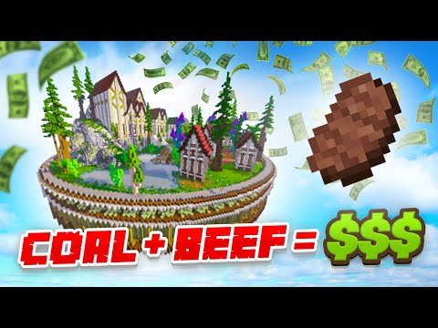 BURNT SMOKED BEEF CASH! - Minecraft SKYBLOCK #7 (Season 3)