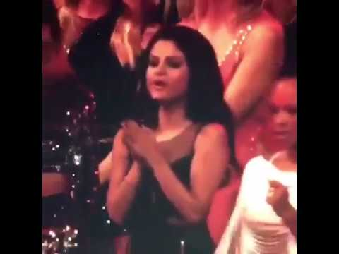 Selena dancing to The Weeknd's song