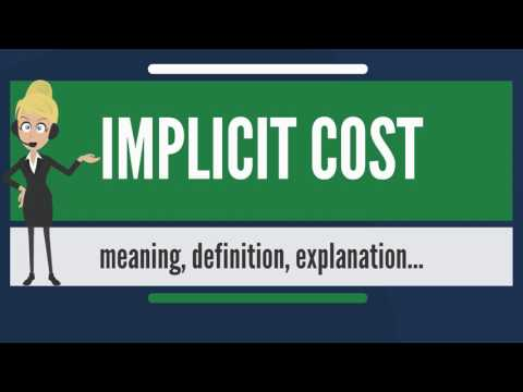What is IMPLICIT COST? What does IMPLICIT COST mean? IMPLICIT COST meaning & explanation