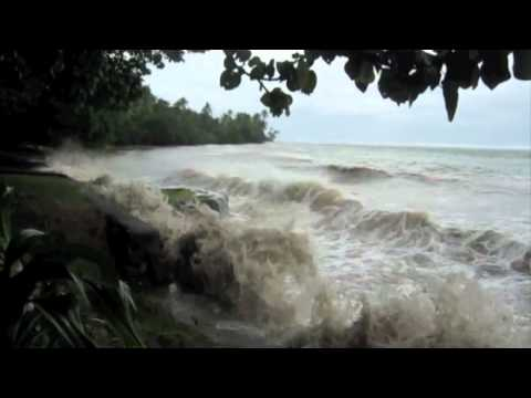 King tide on Fiji's Coral Coast