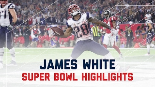 James White Sets Super Bowl Record | Patriots vs. Falcons | Super Bowl Player Highlights