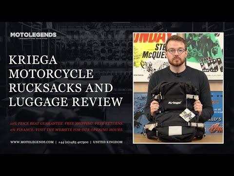 Kriega motorcycle rucksacks and luggage overview