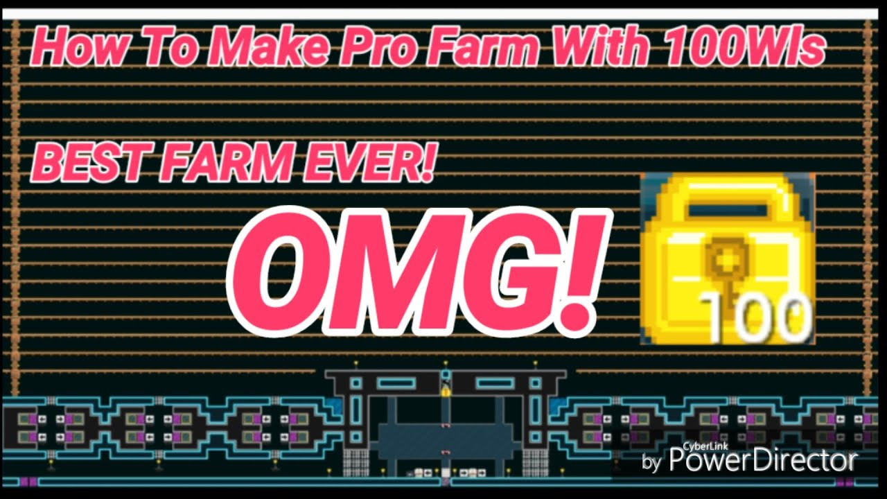 Growtopia - Building Pro Farm World With 100 WLs! OMG