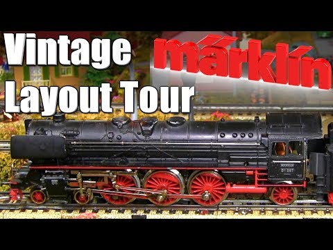 Vintage Marklin HO Scale Layout Tour 1950s era