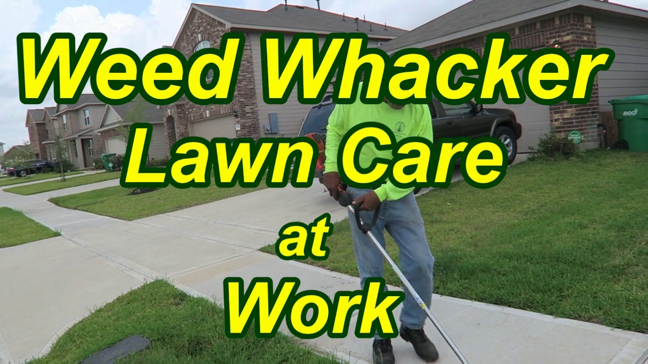 Weed Whacker Lawn Care At Work Youtube