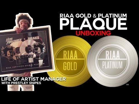 RIAA Platinum & Gold Plaque Unboxing [Life of Artist Manager]
