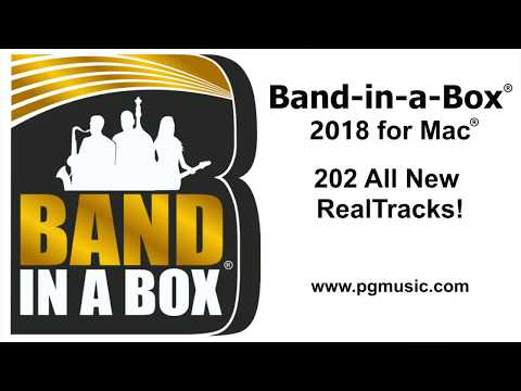 Band-in-a-Box® 2018 for Mac - 202 New RealTracks Overview