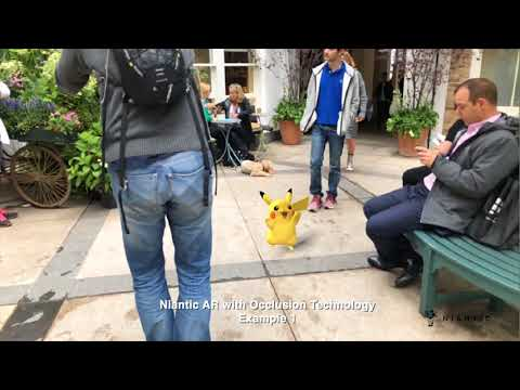 Codename: Niantic Occlusion - Real World AR Occlusion Featuring Pikachu And Eevee