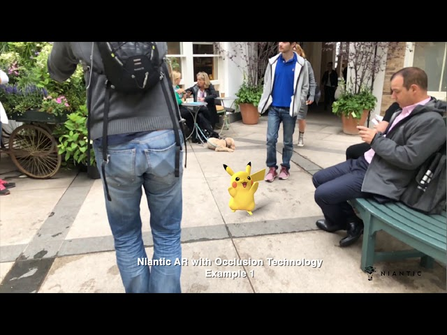 Codename: Niantic Occlusion – Real World AR Occlusion featuring Pikachu and Eevee