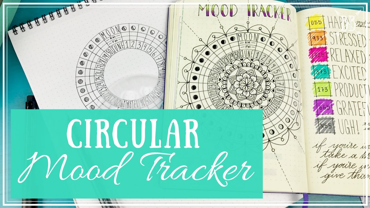 Circular Mood Tracker Step By Step Youtube