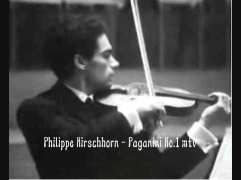 Phillipe Hirschhorn playes Paganini concerto No. 1 mtv 1