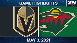 NHL Game Highlights | Golden Knights vs. Wild - May 3, 2021