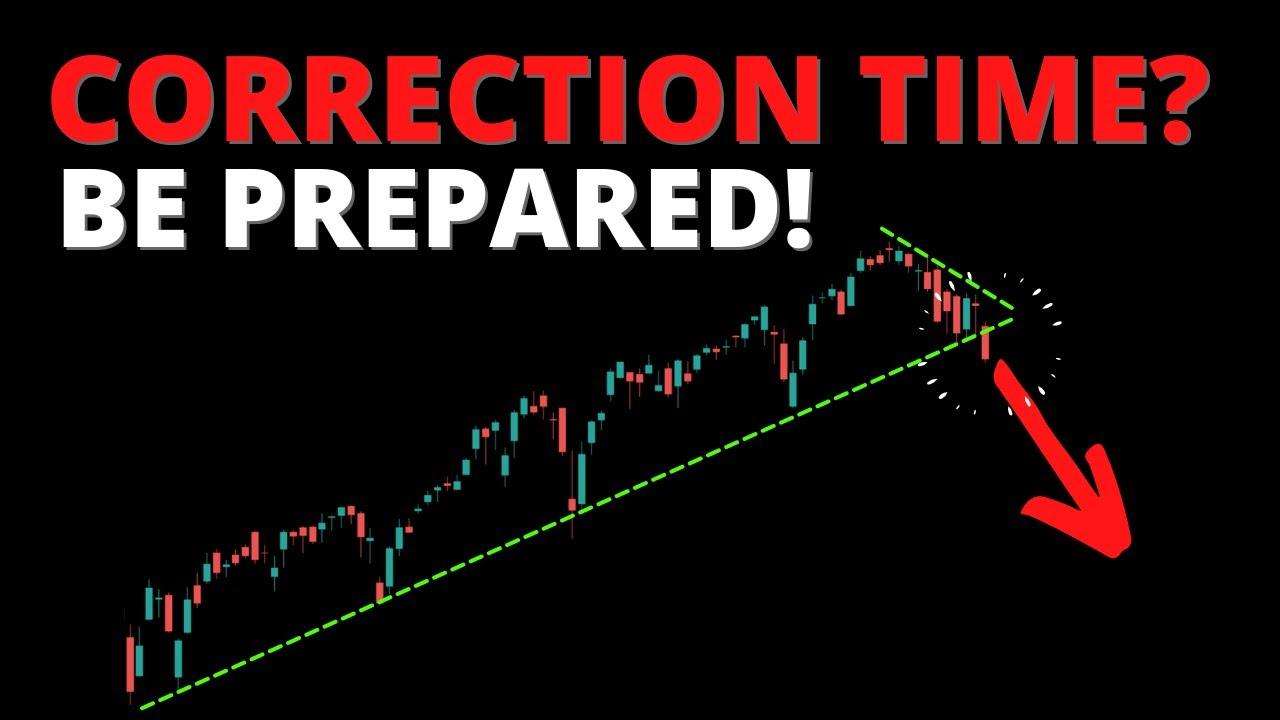 CORRECTION TIME? Be Prepared! (SPY, QQQ, DIA, IWM, ARKK, BTC)
