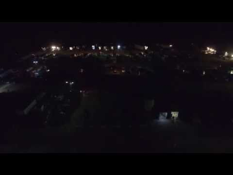 9/3/16 Lincoln Park Speedway Pit Fly over at night - Drone