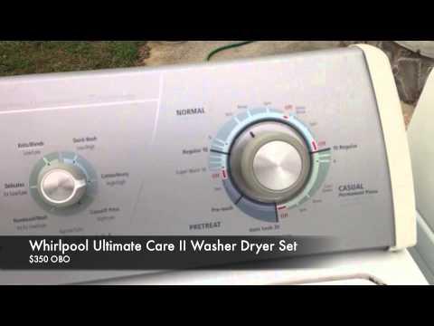 whirlpool ultimate care ii washer dryer set - youtube