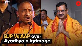 BJP Vs AAP Over Ayodhya Pilgrimage   Arvind Kejriwal Ayodhya