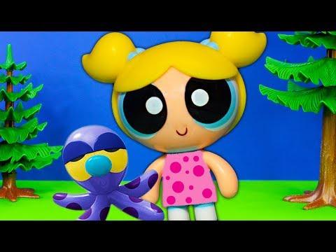 Powerpuff's Bubble's Bad Day Back to School with Mojo Jojo