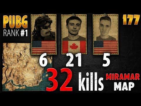 PUBG Rank 1 - Shroud & DrDisRespect & Chad 32 kills [NA] SQUAD FPP - New Map - All POV's - All Kills