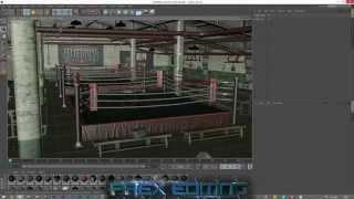 Cinema 4D | Lighting A Scene (Boxing Ring) Tutorial