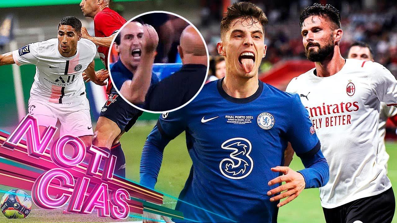 ¡BRONCA en amistoso! GOL de GIROUD con el MILAN | PSG pierde primer TROFEO | | Últimos RUMORES