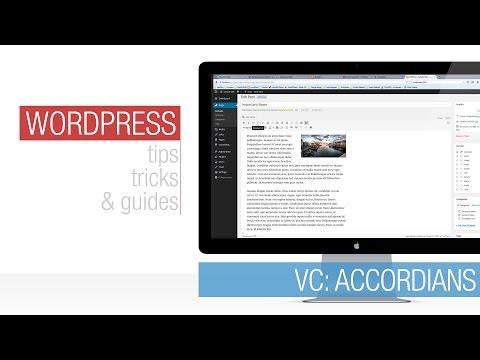 Wordpress Tutorial: Visual Composer - Accordian - 동영상
