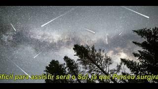 Chuva de estrelas cadentes na madrugada deste domingo (12) para segunda-feira (13)