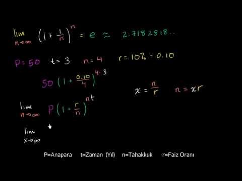 Sürekli Bileşik Faizi Hesaplama Formülü (Finans ve Sermaye Piyasaları)