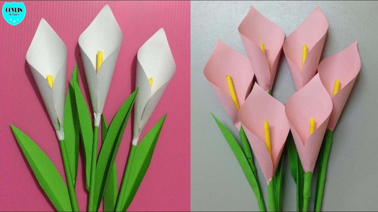 Cara Membuat Bunga Lily Dari Kertas Origami Bunga Hias Dari Kertas Youtube
