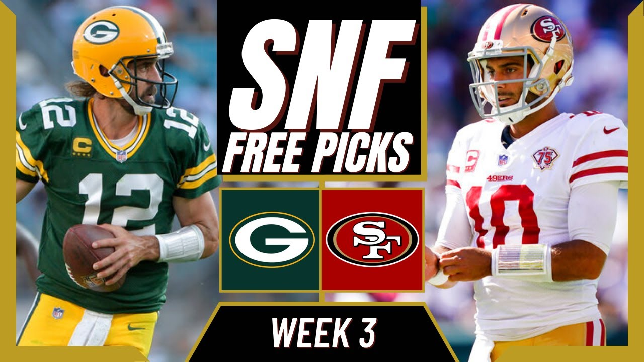Download Sunday Night Football (NFL Week 3) Packers vs 49ers   SNF Free Picks & Odds