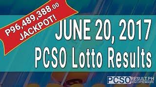 Lotto Result June 20, 2017 (6/58, 6/49, 6/42, 6D, Swertres & EZ2)
