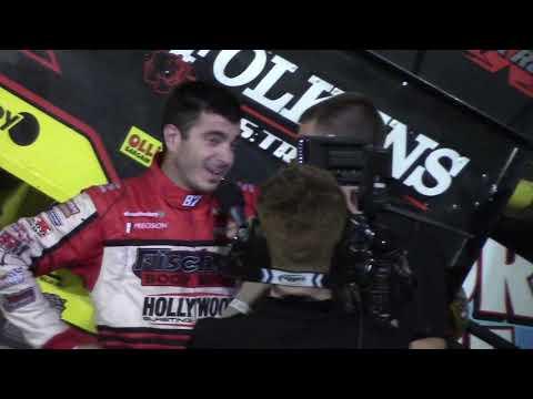 Aaron Reutzel in East Bay Raceway Park All Stars victory lane