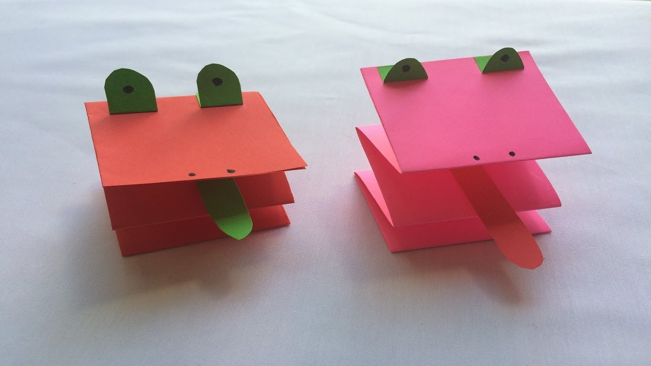 How To Make A Paper Easy Frog Origami Frog Simple And Fun For Kids