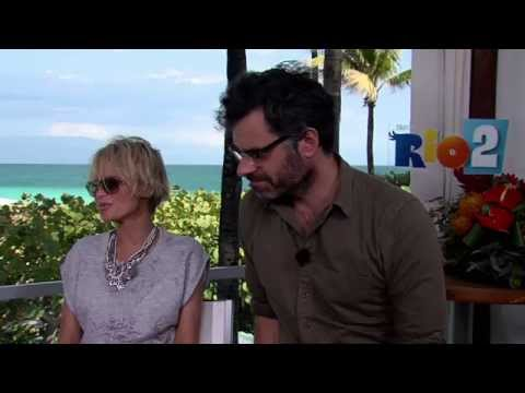 Rio 2: Kristin Chenoweth & Jemaine Clement Official Movie Interview