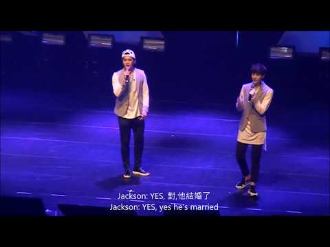 [fancam HD] 150120 GOT7 Taiwan Showcase - Mark Jackson (周杰倫-安靜) Sing+Talk [ENG sub] (P6)