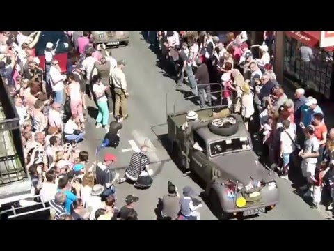 70th BAYEUX D DAY  MILITARY VEHICLES PARADE