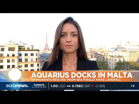 #GME | The humanitarian ship Aquarius carrying 141 migrants has finally docked in Malta
