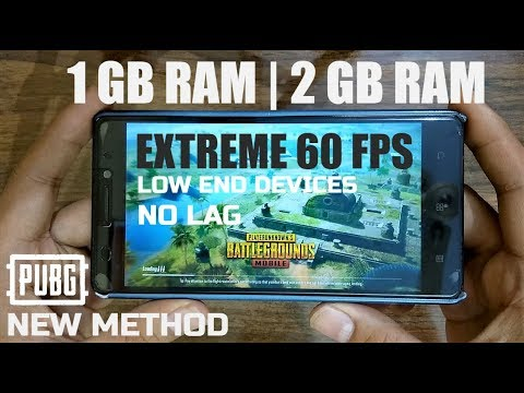 How To Play PUBG Mobile In 1 GB Or 2 GB RAM Smartphone Without Lag | Extreme 60 FPS | 100% Working