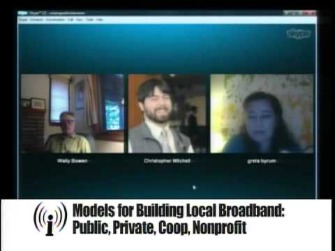 Models for Building Local Broadband:  Public, Private, Coop, Nonprofit